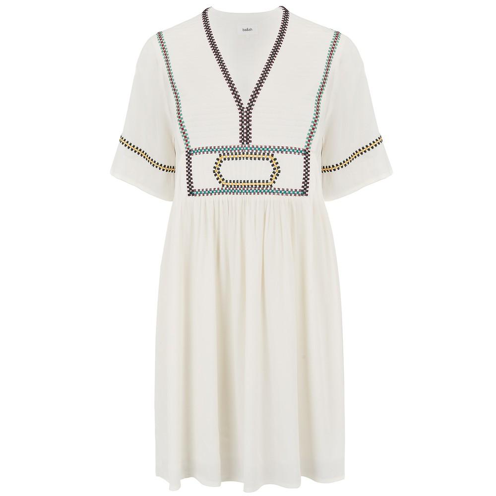 Ba&sh Talia Boho Dress in Cream Cream