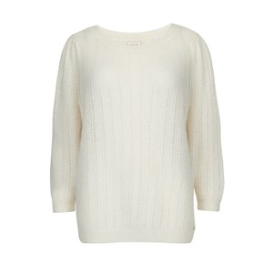 Des Petits Hauts Atika Sweater in White/ Red