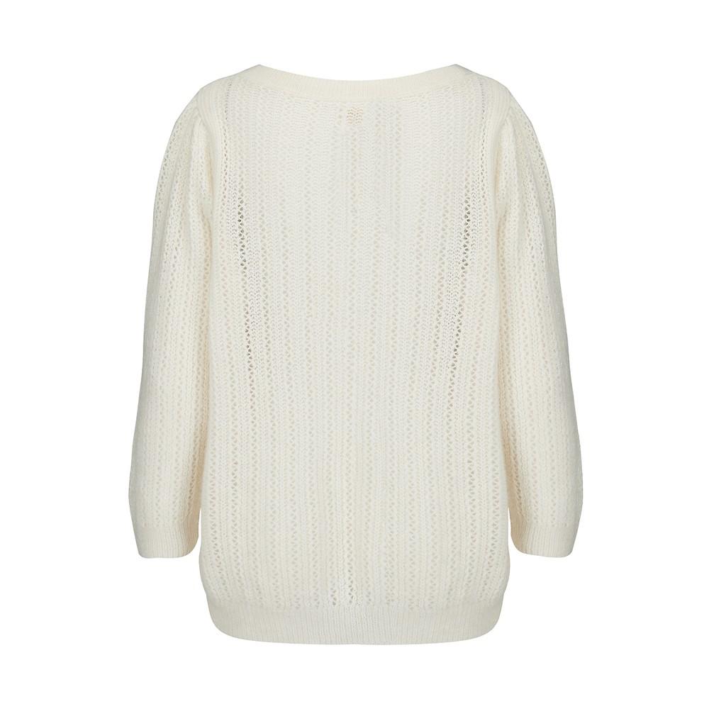 Des Petits Hauts Atika Sweater in White/ Red White