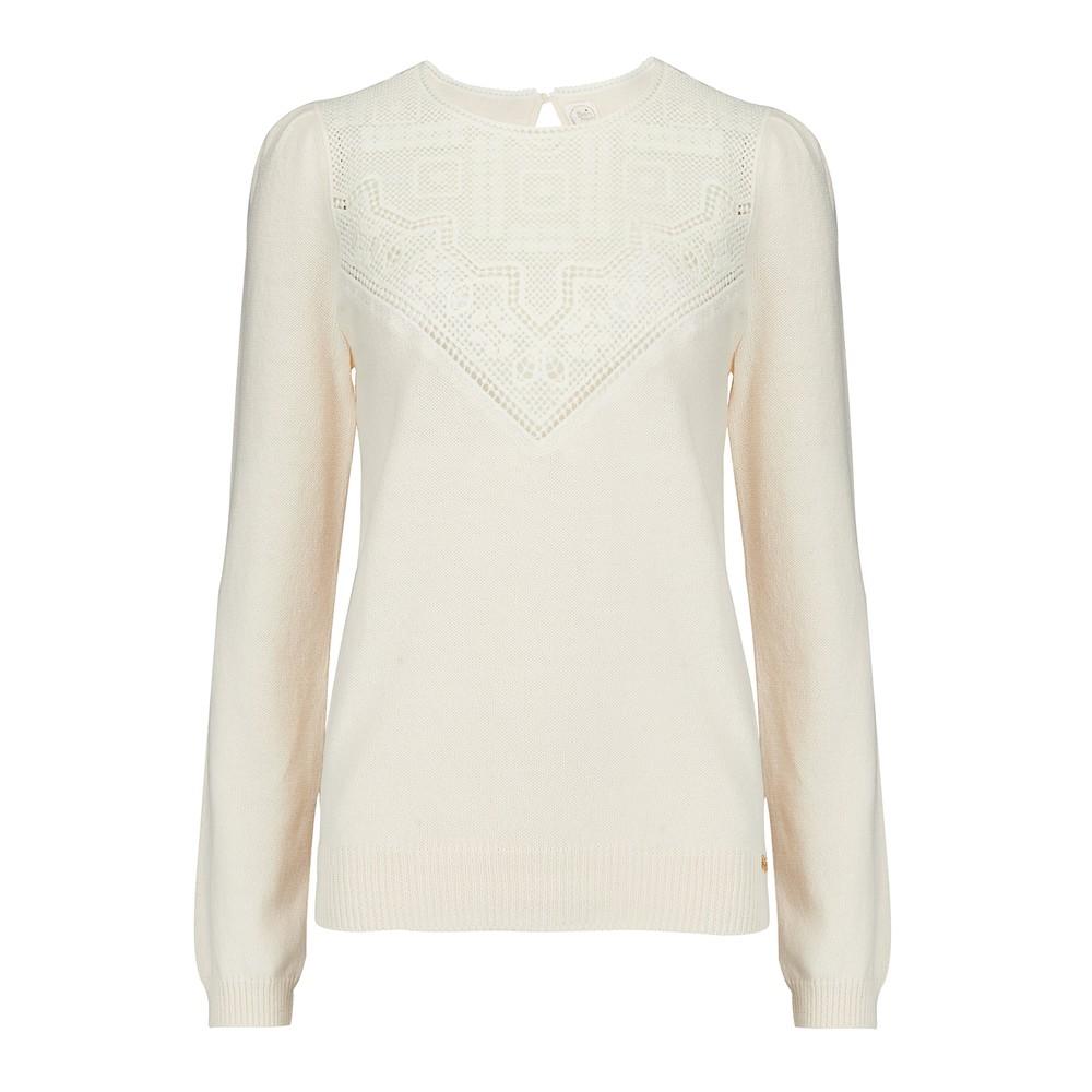 Des Petits Hauts Bloum Sweater in Cream Cream