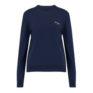 Maison Labiche Bonjour Crew Neck Sweater in Eclipse
