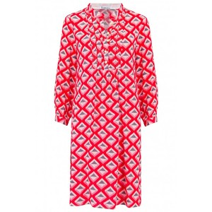 Libelula Chloe Tunic in Red Star Diamond Print