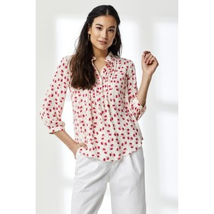 Libelula Delphine Top in White and Red Hiawatha Print