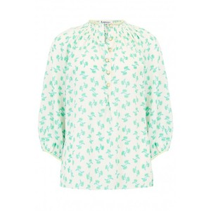 Libelula Hartford Top in White and Turquoise Hiawatha Print