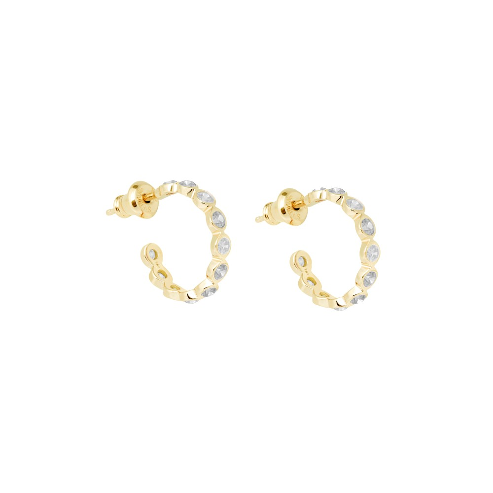 Tada & Toy White Constellation Hoops Gold Gold