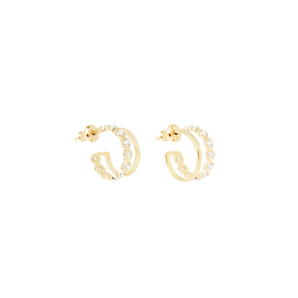 Tada & Toy Lazy Girl Hoops Gold Gold