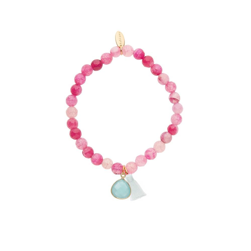 Ashiana Elastic Bead Bracelet Pink