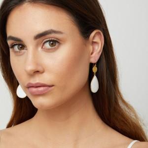 Ashiana Gold Plated Earrings with beaten discs