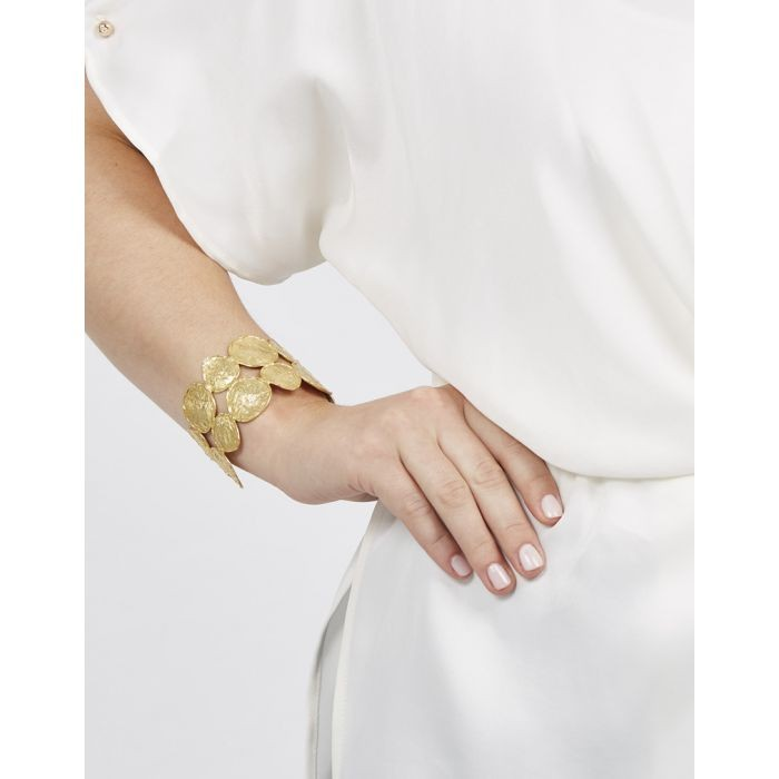 Ashiana Double Row Coin Cuff Gold