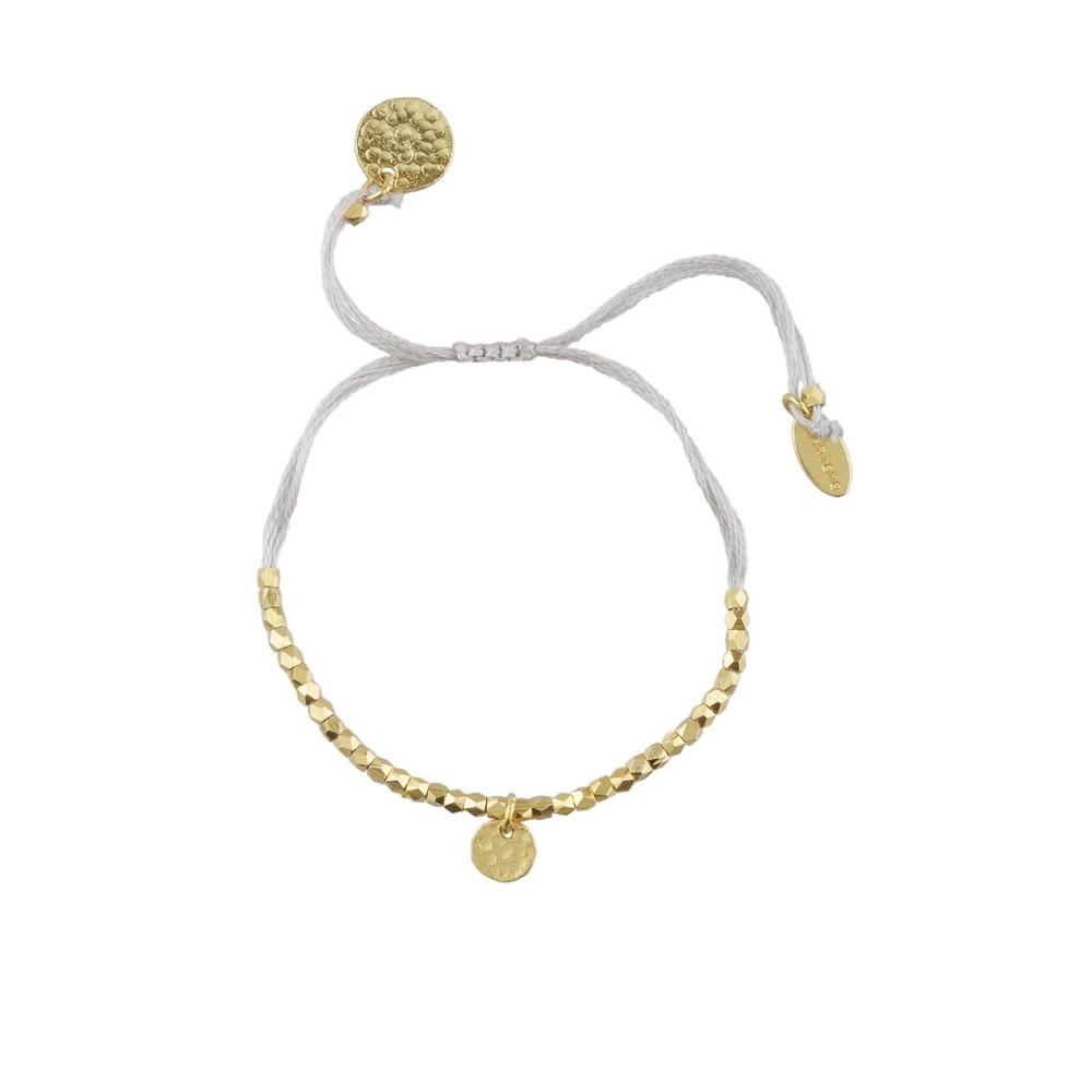 Ashiana Friendship Bracelet with beads Grey