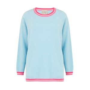 Jumper 1234 Split Stripe Sweater in Powder Blue