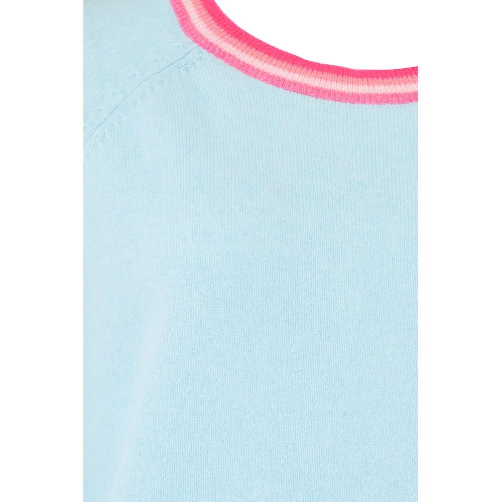 Jumper 1234 Split Stripe Sweater in Powder Blue Blue
