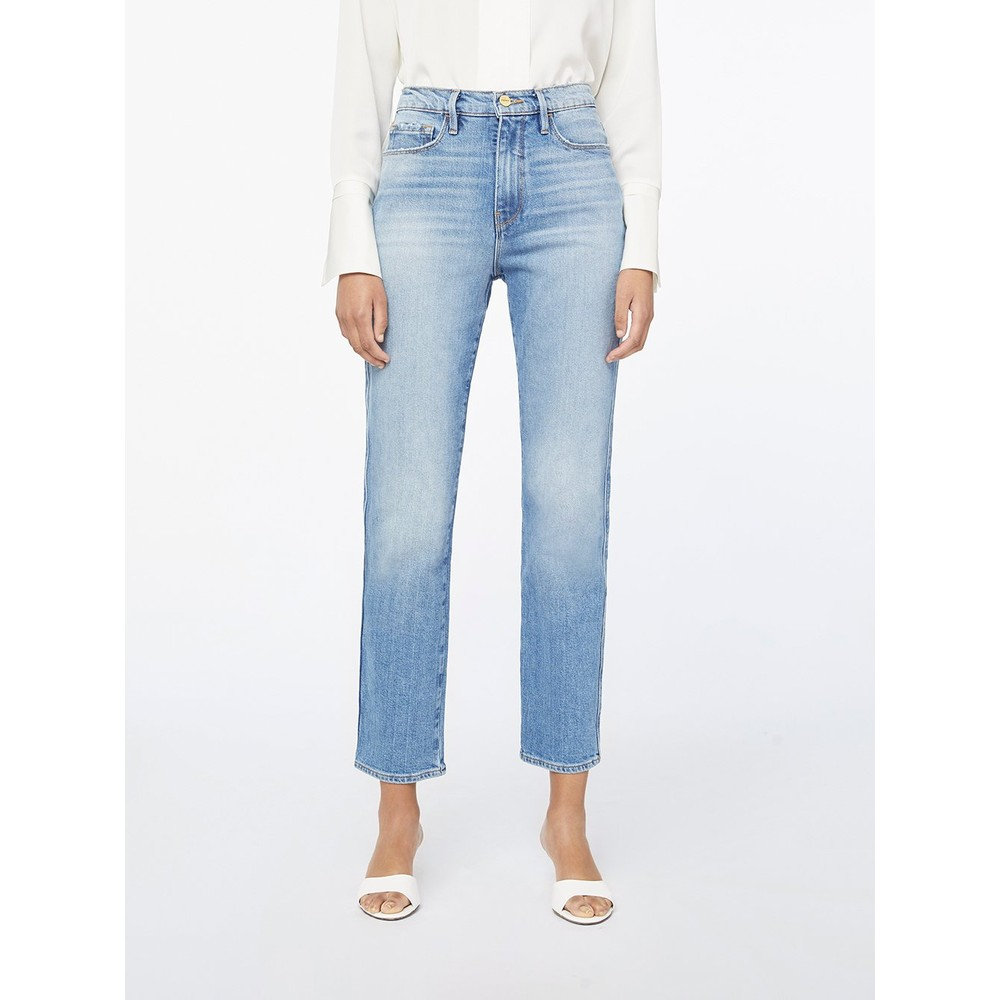 Frame Denim Le Sylvie Slender Straight in Alamitos Light Denim