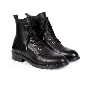 Air & Grace Jessa Leather Lace Up Boots