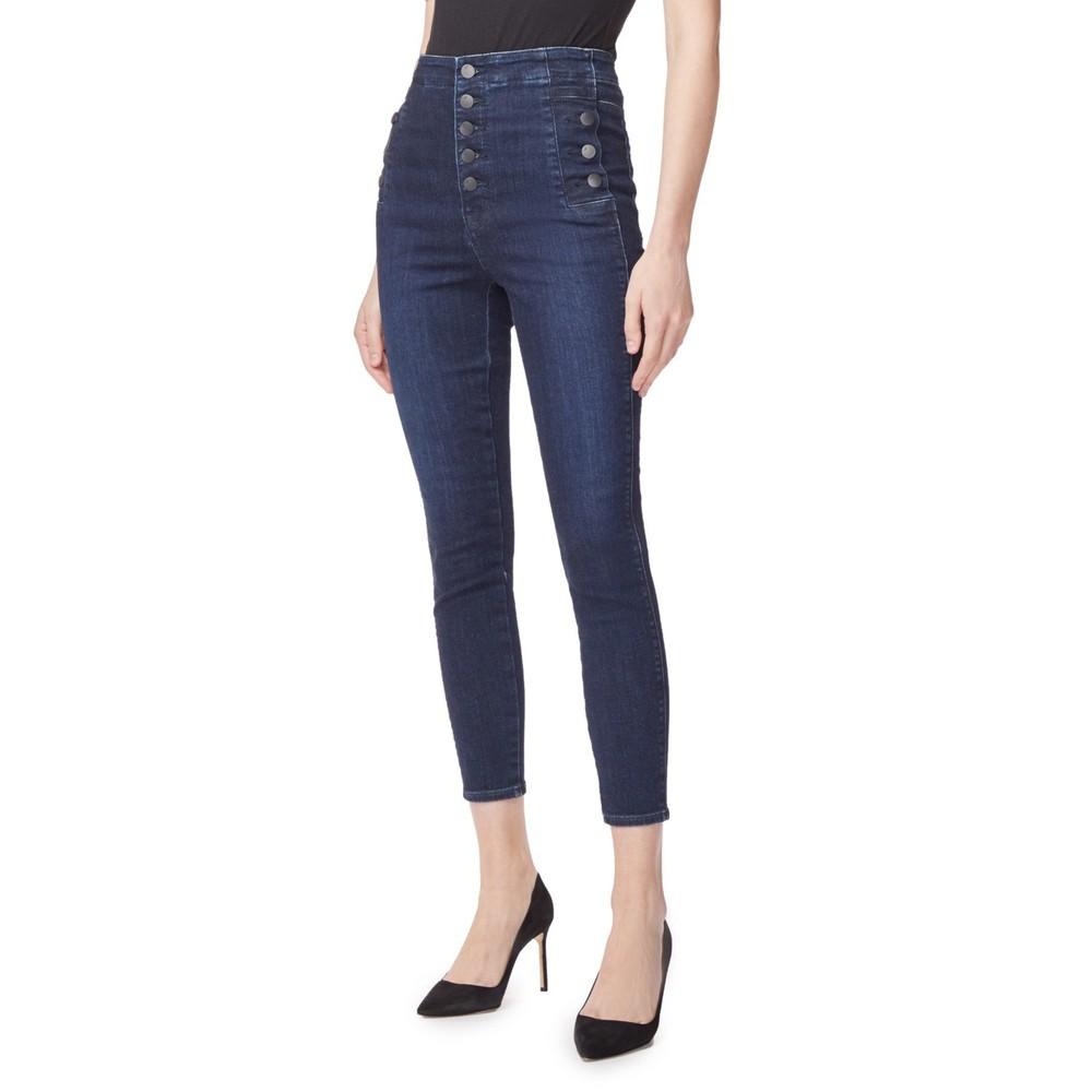 J Brand Natasha High Rise Crop Skinny in Reality Dark Denim