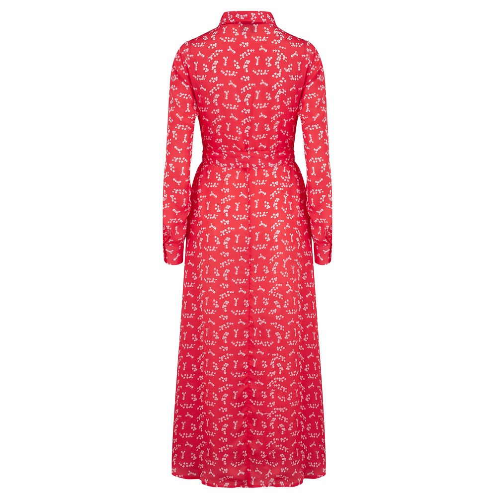 Primrose Park Josie Dress in Silver Dollar Red