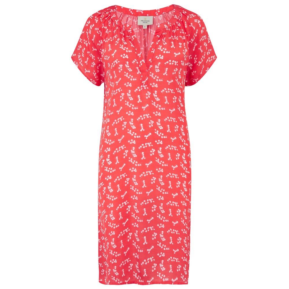 Primrose Park Milli Open Dress in Silver Dollar Red