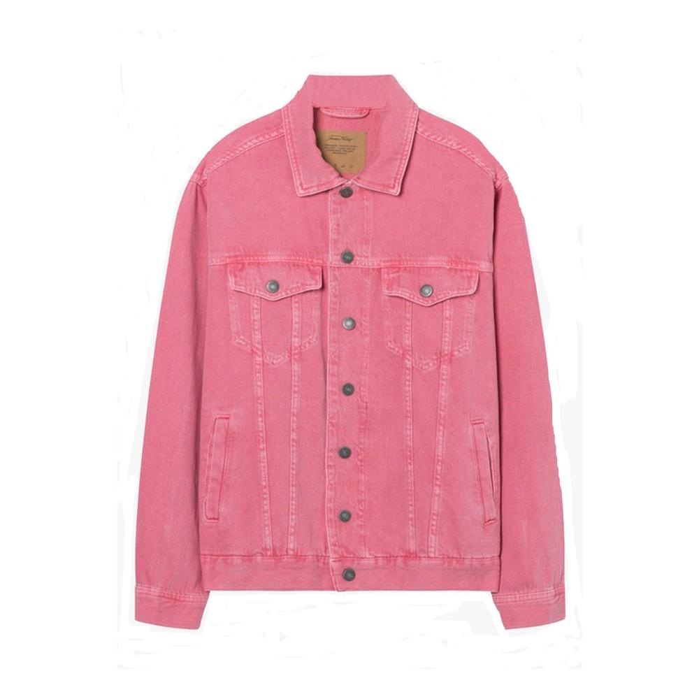 American Vintage Long Sleeved Oversized Jacket in Lychee Pink