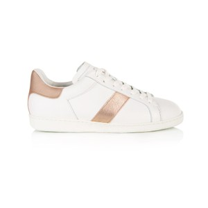 Air & Grace Copeland Trainers with Navy Glitter in Pale Pink