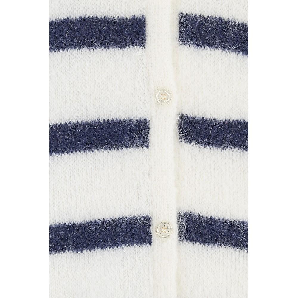 Des Petits Hauts Striped Daline Cardigan Cream