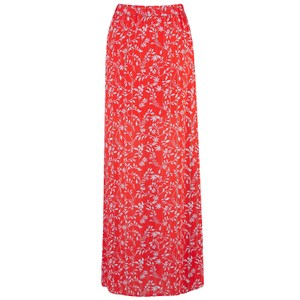 Berenice Midi Printed Skirt with Lurex in Red