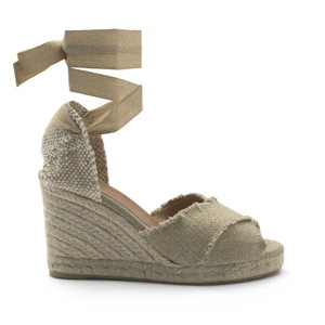 Castañer Bluma 8 canvas and jute wedge