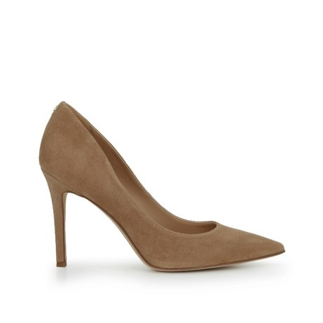 Sam Edelman Hazel Heels in Oatmeal Suede Natural