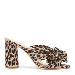 Loeffler Randall Penny bowed detailed mules in Leopard