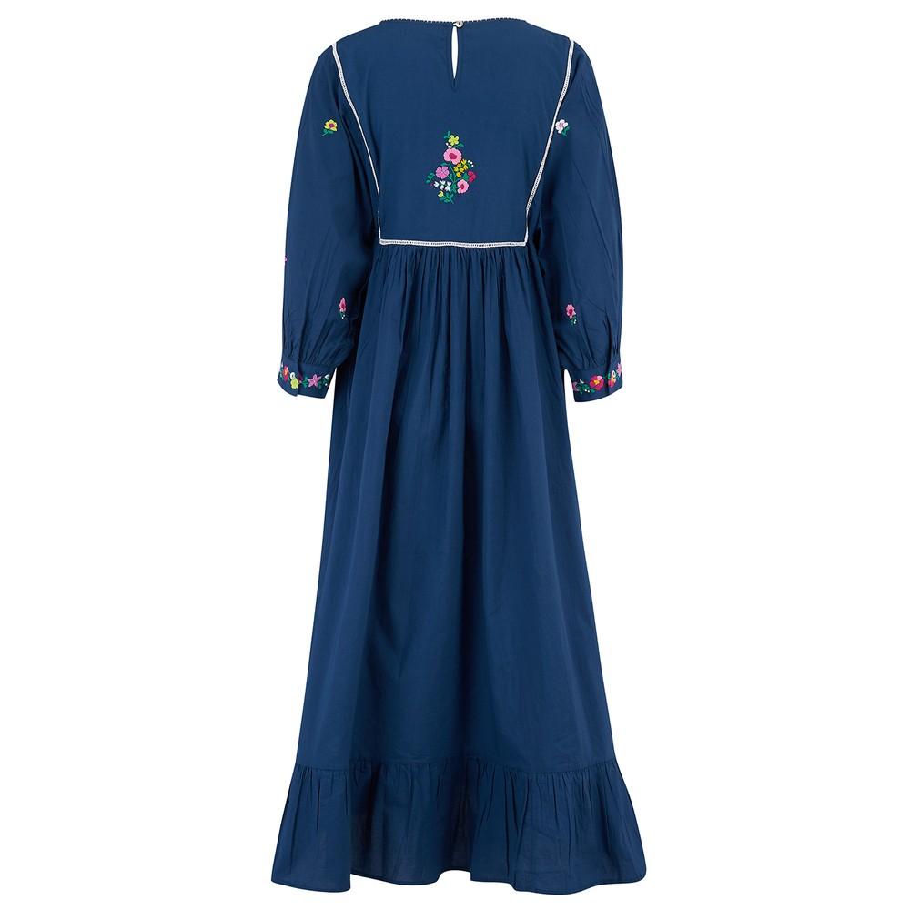 Pink City Prints Folklore Dress in Navy Navy