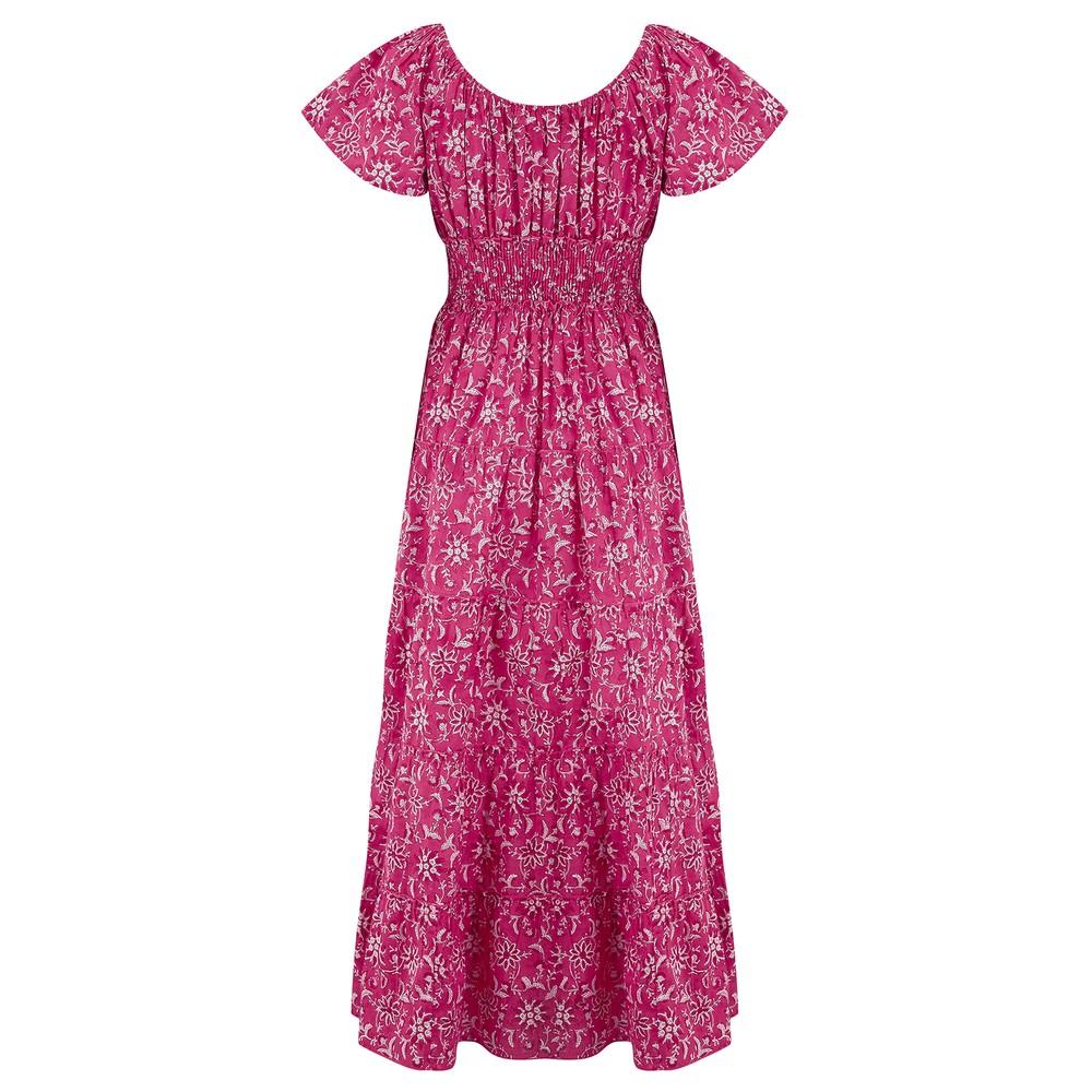 Pink City Prints Rah-rah Dress Spanish Pink