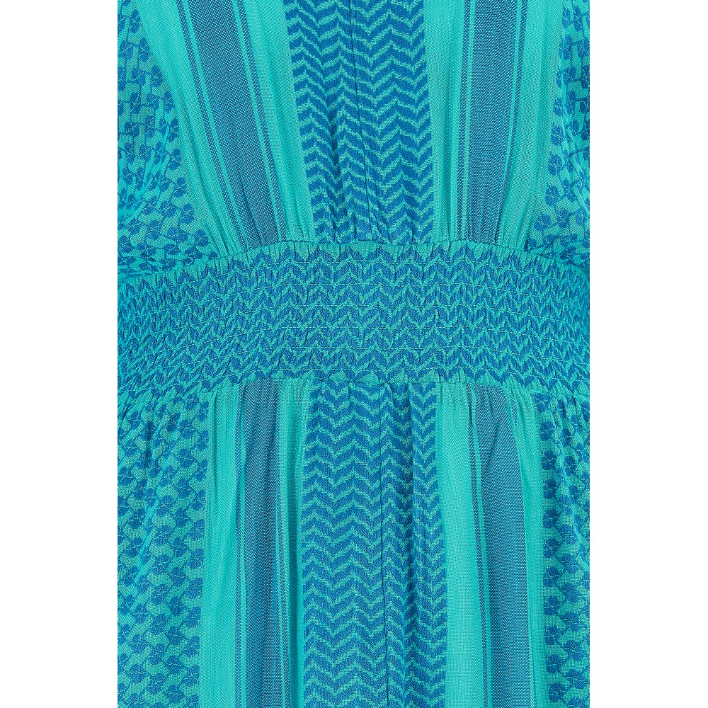 Cecilie Copenhagen Lorentina Dress in Blue and Turquoise Blue