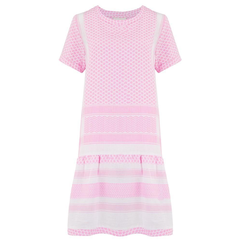 Cecilie Copenhagen Dress 2, O, Short Sleeves Pale Pink