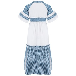 Cecilie Copenhagen Angela Dress in Blue and White