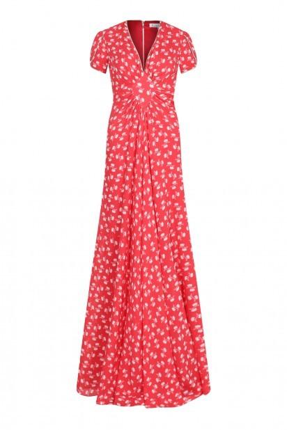 Libelula Long Jessie Dress in Large Hiawatha Print Red