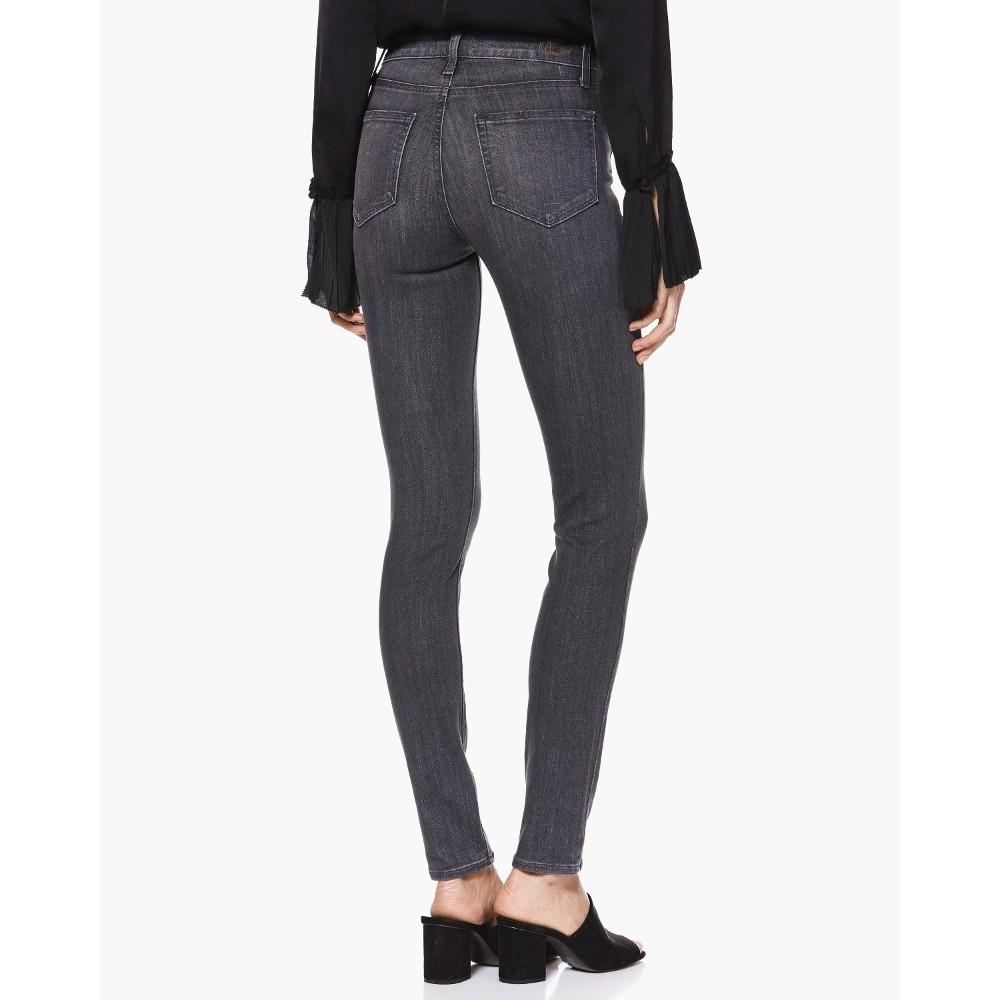 Paige Hoxton Ankle Denim Jeans in Grey Peaks Grey