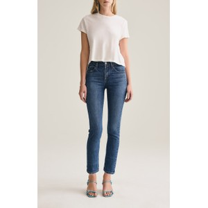 Agolde Toni Mid Rise Straight Jeans in Feral in Mid Denim