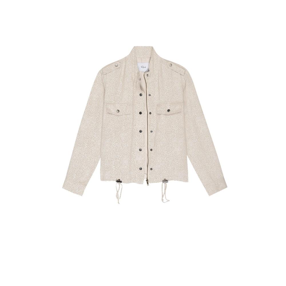 Rails Collins Mini Cheetah Jacket in White White
