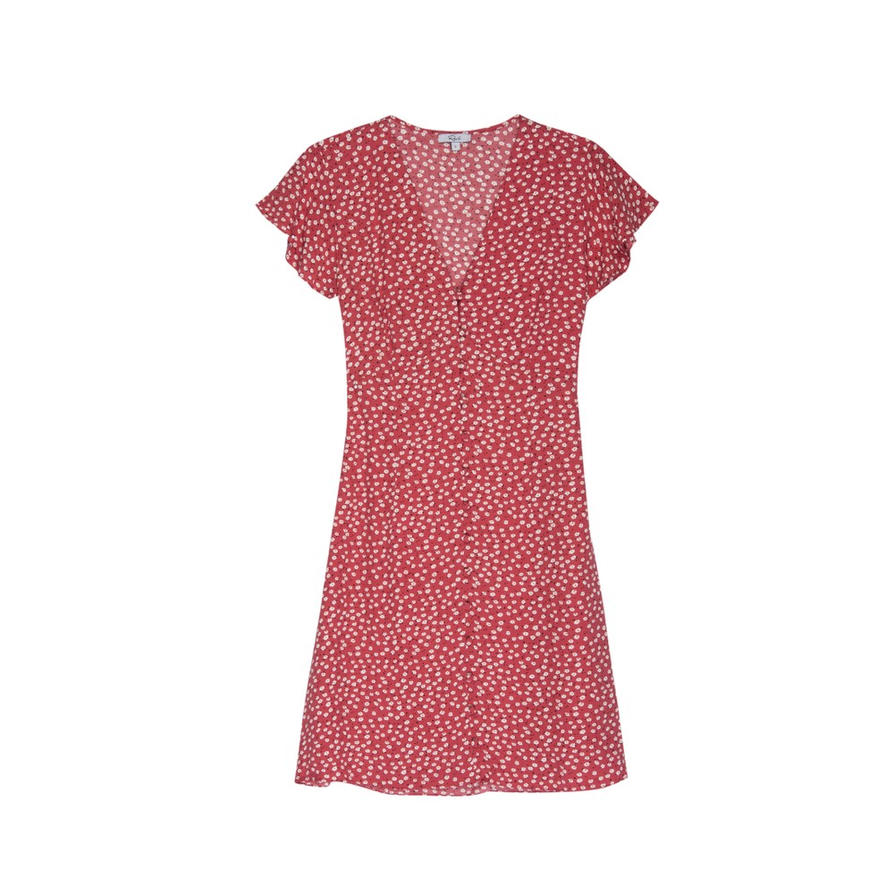 Rails Helena Dress in Carmine Daisies Red
