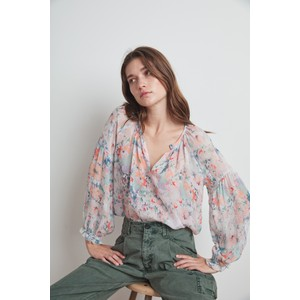 Velvet Jessa Printed Blouse in Watercolour