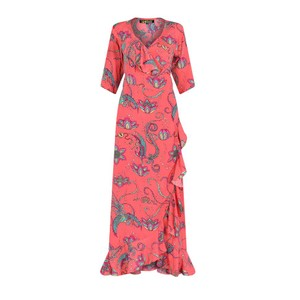 Stardust Sweetheart Flamenco Bird Dress in Navy in Coral