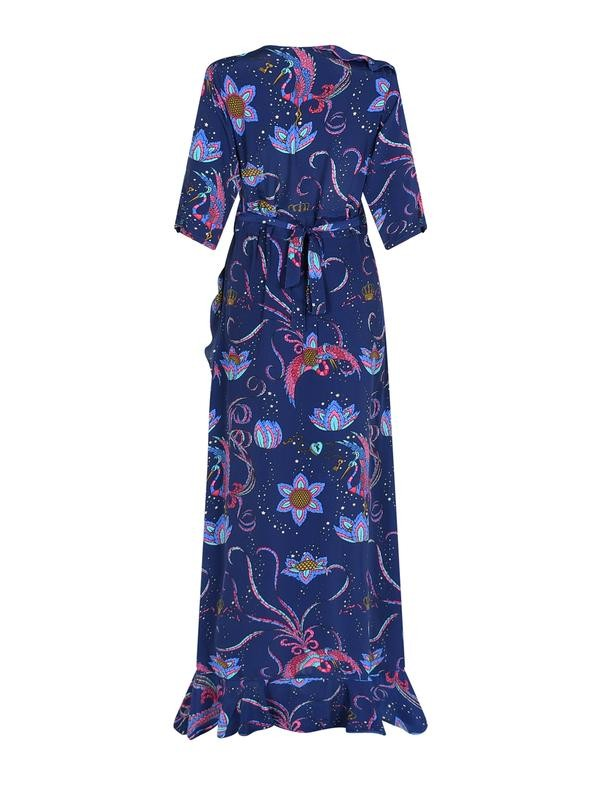 Stardust Sweetheart Flamenco Bird Dress in Navy Blue