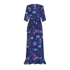 Stardust Sweetheart Flamenco Bird Dress in Navy