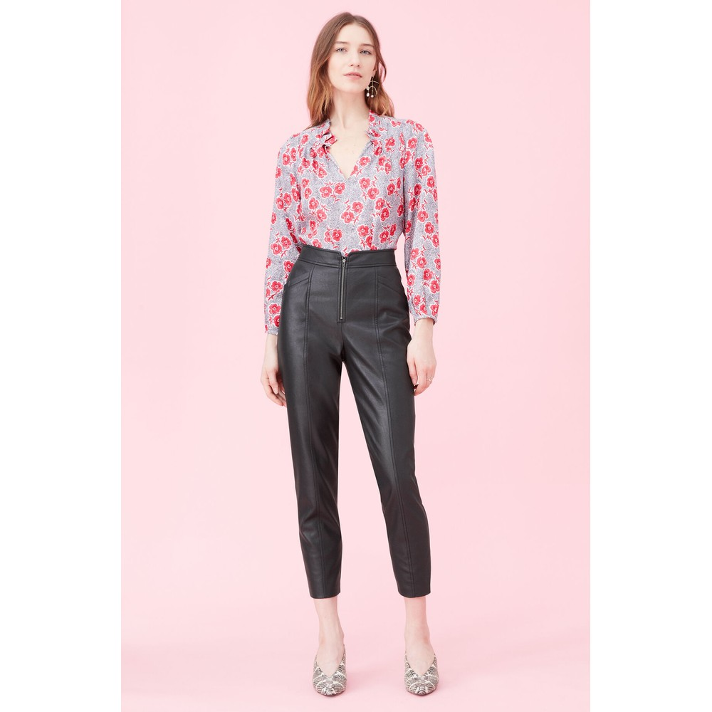 Rebecca Taylor Coral Jacquard Blouse Pink