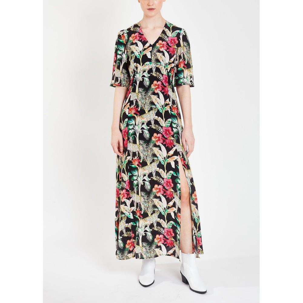 Pyrus Beatrice Printed Maxi Dress Leopard