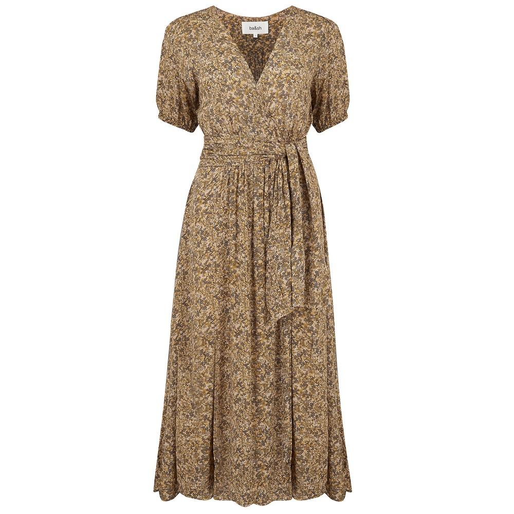 Ba&sh Noemie Dress in Ocre Natural