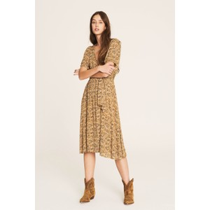 Ba&sh Noemie Dress in Ocre