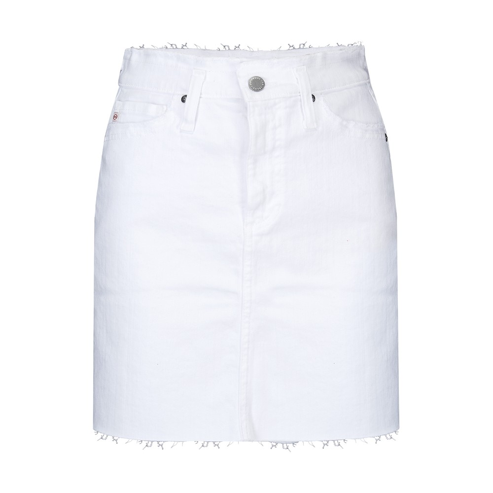 AG Jeans Vera Denim Skirt in White White