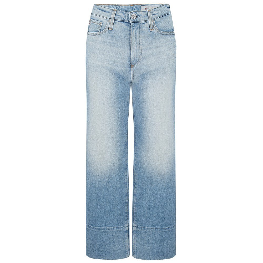 AG Jeans Etta Wide Leg Crop Jeans In 23 Year Reclaim Light Denim
