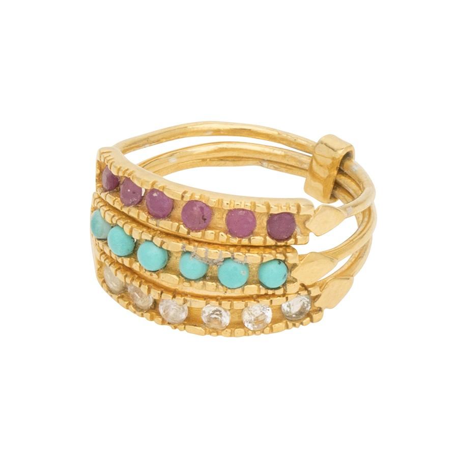 Une A Une Manuela Ring Multicoloured