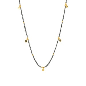 Une A Une Jaipur Necklace with Pyrite Flowers